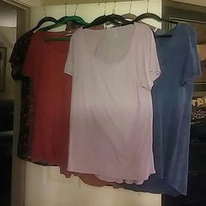 Lot of 8 Lularoe Classic Tees Size XL New and EUC
